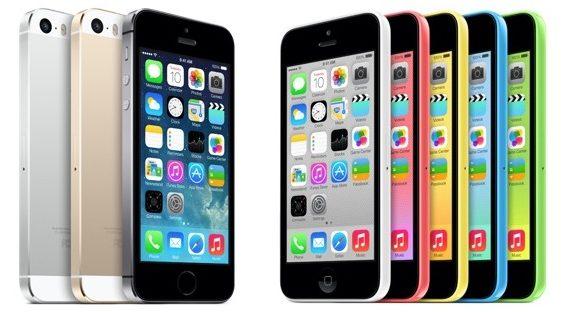 iPhone 5s e iPhone 5c
