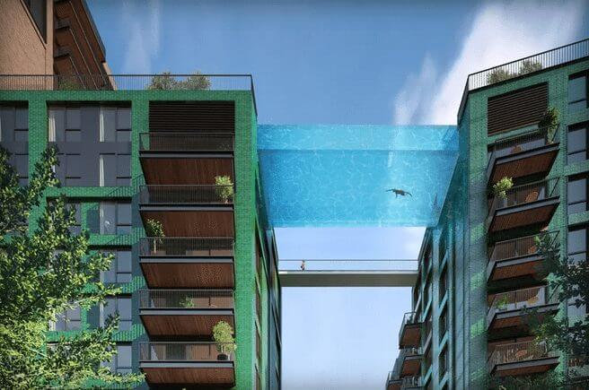 sky pool london londres piscina suspensa