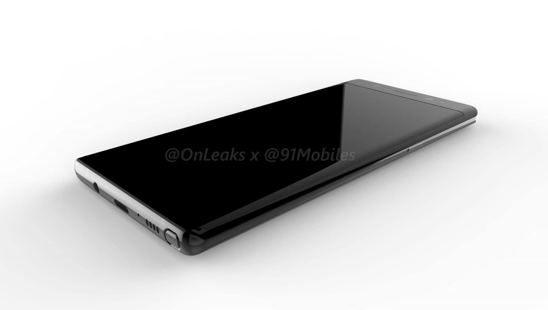 SAMSUNG GALAXY NOTE 8 RENDER FRONT TWO