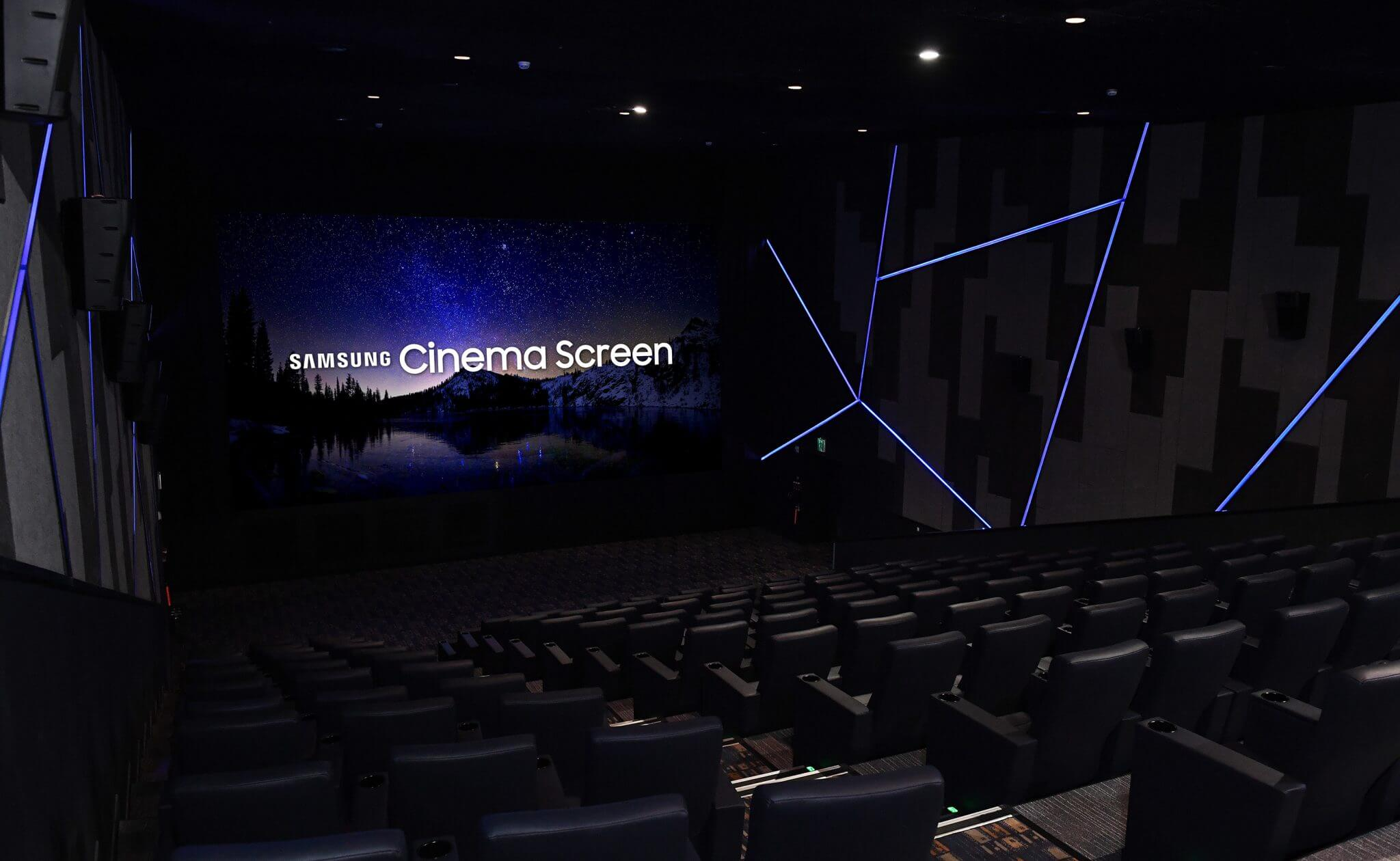 Samsung inaugura o primeiro cinema do mundo com um display LED 4K