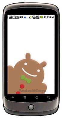 nexus one gingebread - Nexus One prestes a receber a atualização Gingerbread 2.3