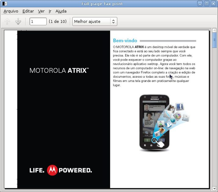 Captura de tela Full page fax print - Motorola Atrix 4G prestes a ser lançado no Brasil
