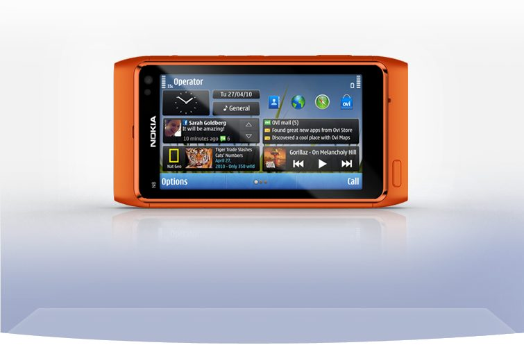 nokia n8 front horizontal orange 755x497 - Review: smartphone Nokia N8