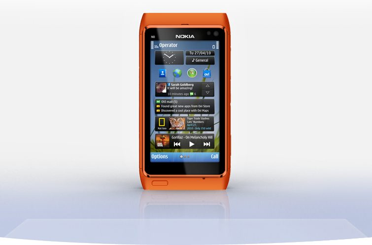 nokia n8 front orange 755x497 - Review: smartphone Nokia N8