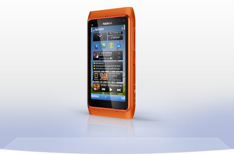 nokia n8 right perspective orange 755x497 - Review: smartphone Nokia N8