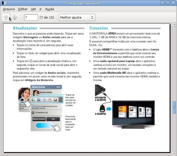Captura de tela Full page fax print 1