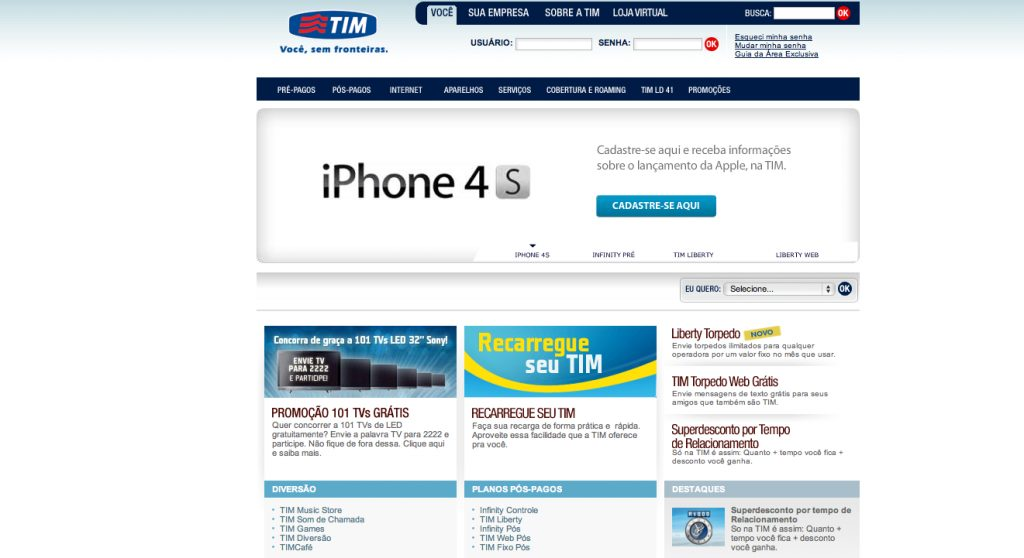 iPhone 4S aparece no site da TIM Brasil