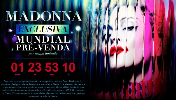 Madonna chega ao topo da iTunes Store