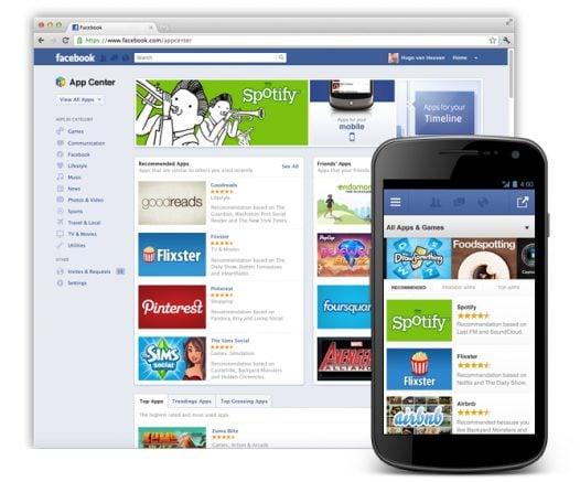 Facebook anuncia Central de Aplicativos (iOS, Android, web, mobile e desktop).
