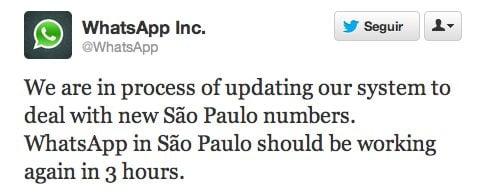 whatsapp sao paulo nono digito