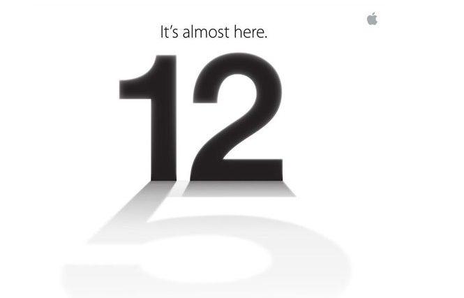 Convite evento Apple para lançamento do iPhone 5