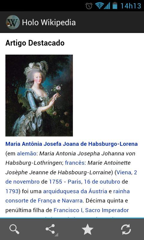 Holo Wikipédia: aplicativo leva a interface do Android Jelly Bean às páginas da Wikipédia.