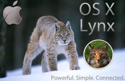Os x 10. 9 deverá se chamar lynx