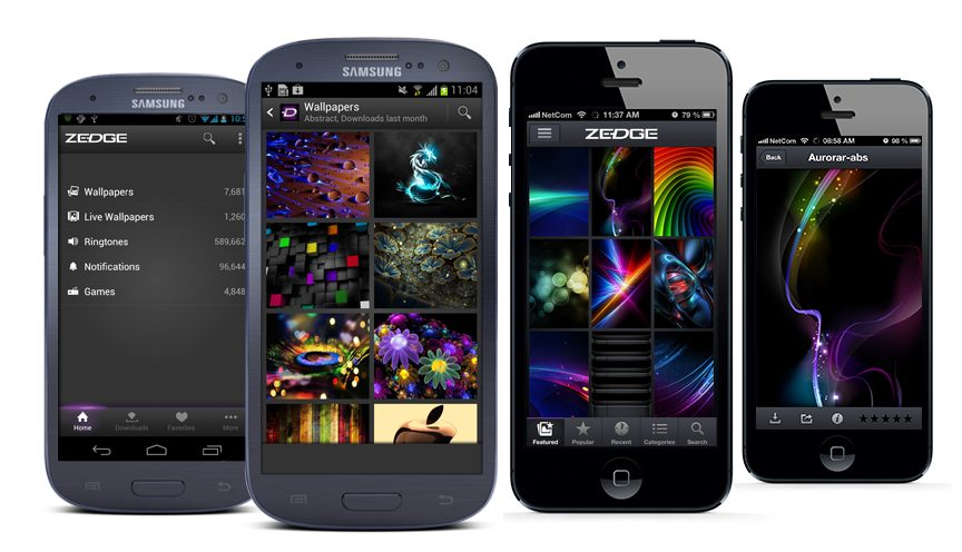 Android vs iPhone Zedge Wallpapers - App Review: Zedge é um show de wallpapers e personalizações