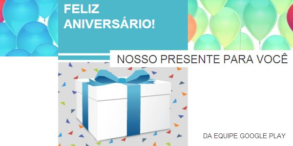 Aniversario google play