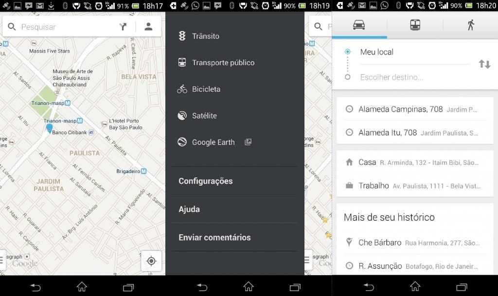 Captura de Tela 2013 07 10 às 18.53.431 - Google Maps para o Android é atualizado com novo visual e funcionalidades