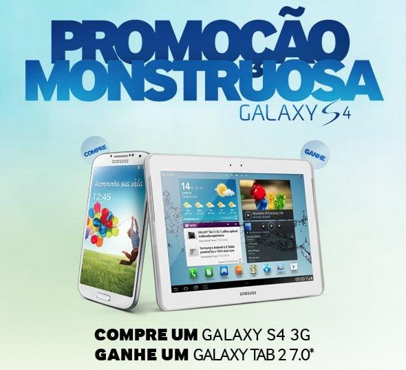 Promoção Samsung: compre um Galaxy S4 e ganhe um tablet
