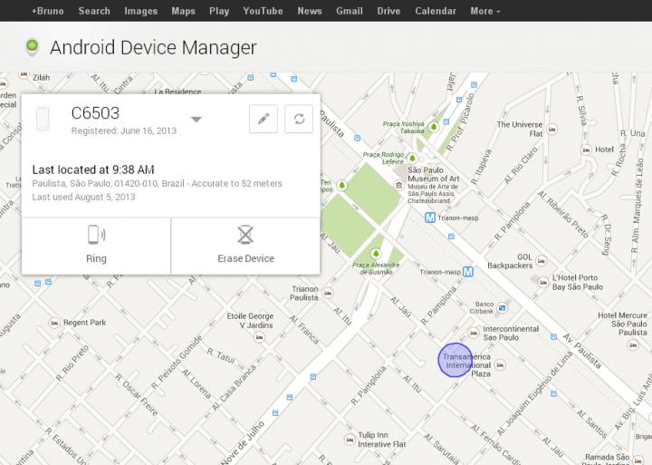 Localizador de dispositivos android já é acessível. Veja através deste link