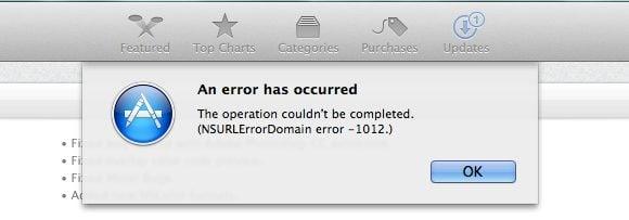 Falha na atualização do OS X