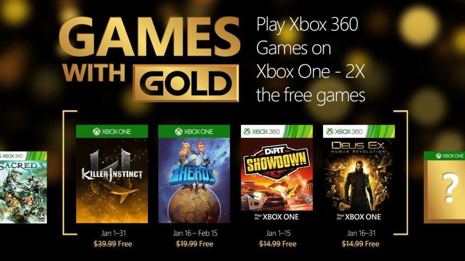 Games with Gold: jogos grátis para janeiro de 2016