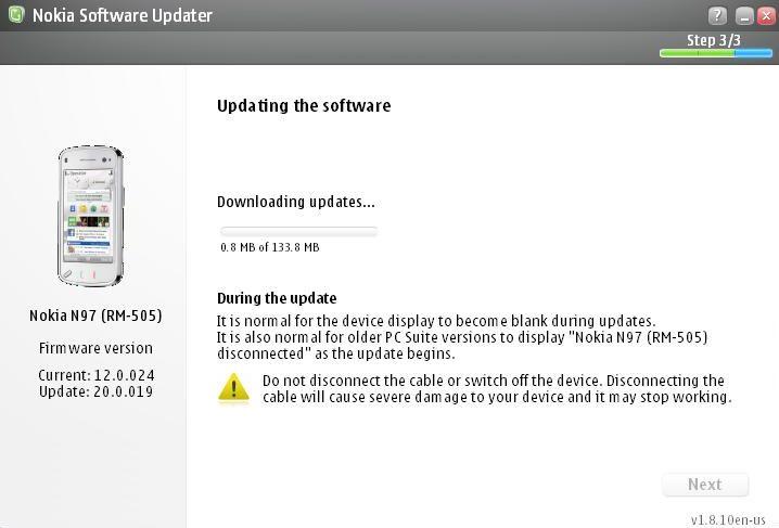 N97 v20 NSU - Nokia  N97 - Firmware v2.0 já disponível para download.