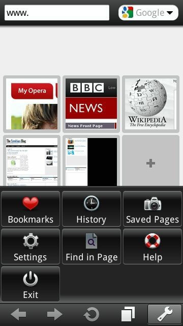 Opera Mobile 10 Beta 5 - Novo aplicativo: Navegador Opera Mobile 10 Beta