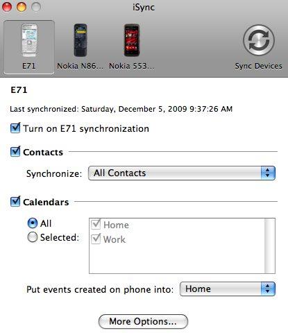 iSync - TOP5 Aplicativos Nokia e Symbian para Usuários de Macs