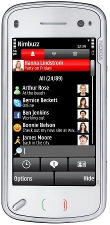 nimbuzz on the nokia n97 v2 - Nimbuzz - Nova atualização traz Twitter e avisos para a Homescreen do seu celular