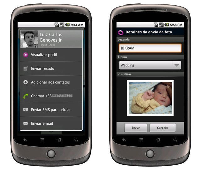 Nexus one orkut