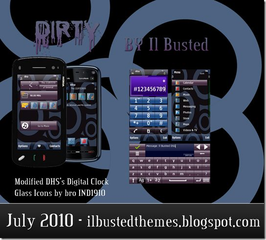 Nokia Dirty Theme tema s60 5th - Tema: Dirty para celulares Nokia
