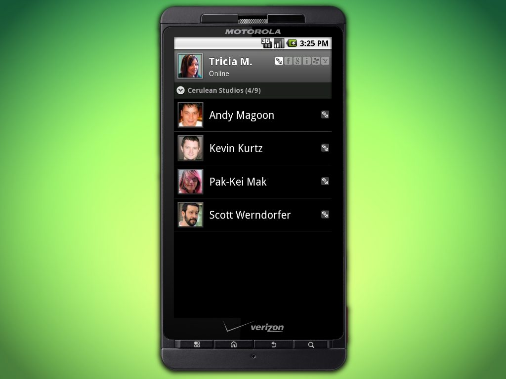 android contacts l - Novo aplicativo: Trillian para smartphones Android