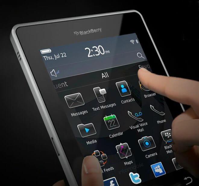 Blackberry blacktab playbook tablet rim