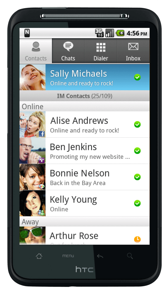 Nimbuzz android contact list1