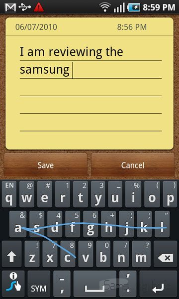 galaxy s review swype