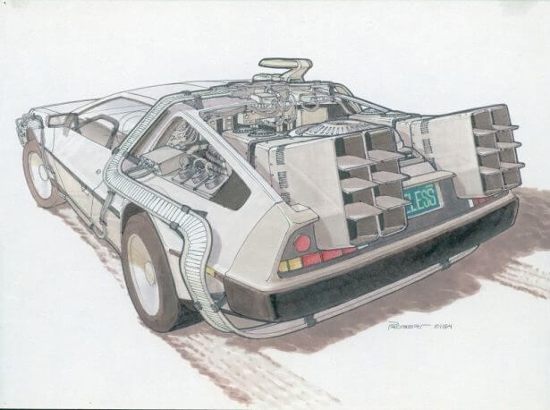 Concept drawings back to the future 0