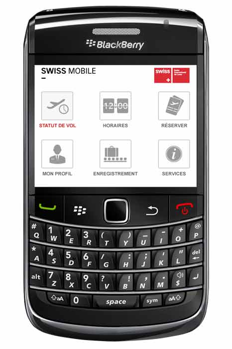 BlackBerry FR popup - Swiss Airlines lança Aplicativo para BlackBerry