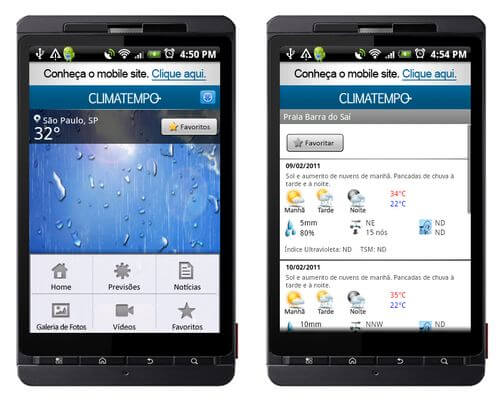 Climatempo android aplicativo