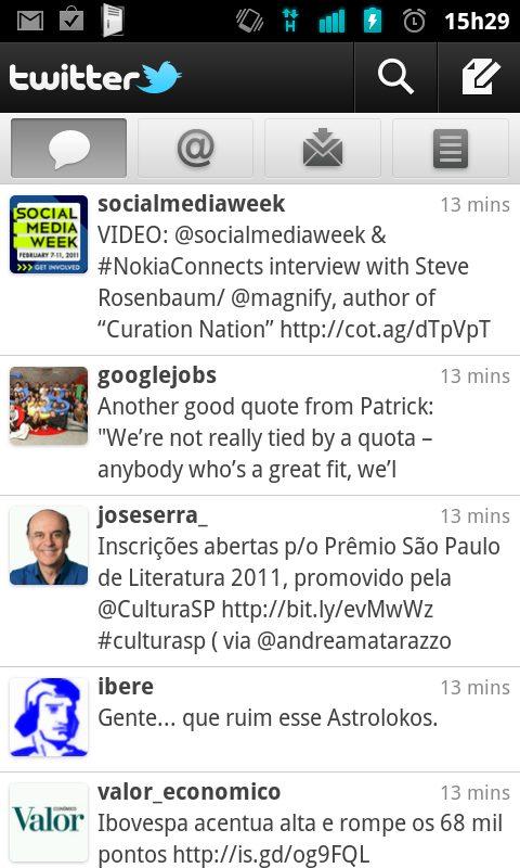 Twitter 2.0.0 2.0.1 Android - Novo Twitter 2.0.0 para smartphones Android já está disponível