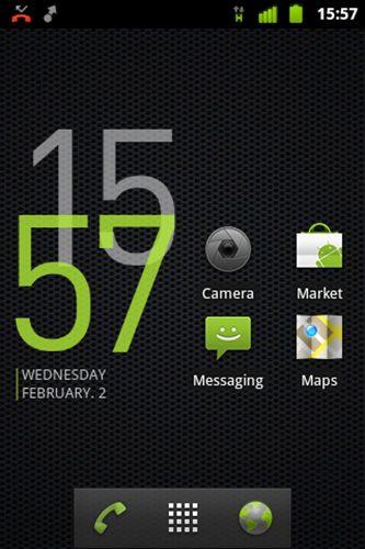 Widget de relógio Cowon para smartphones Android