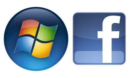 Microsoft facebook logos