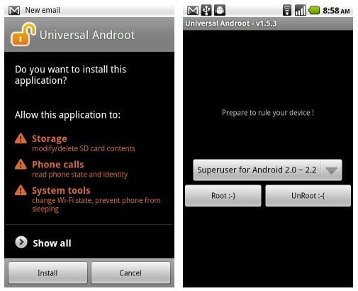 Tutorial: Root com 1 clique para o Motorola Milestone, Xperia X10, G1, Nexus One, Droid, Droid X, Hero, Streak e outros