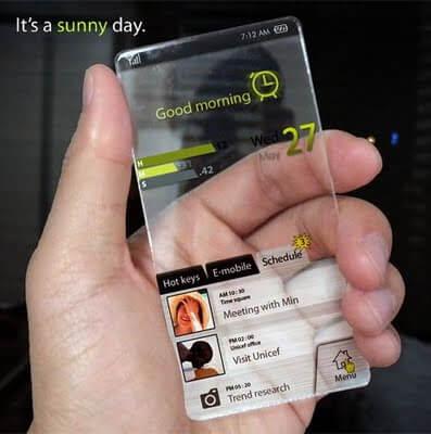 Smartphones e gadgets transparentes num futuro muito próximo