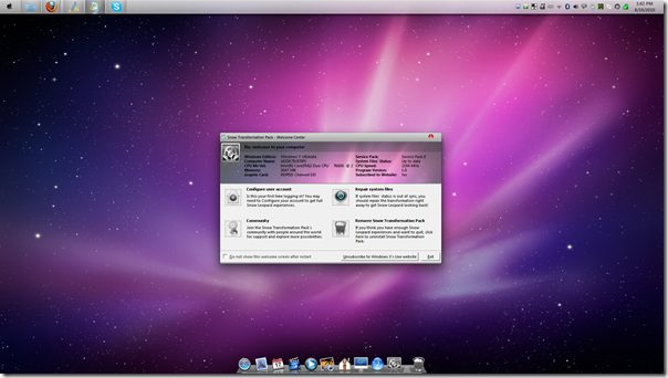 snowtransformationpack - Snow Transformation Pack deixa o seu Windows com a cara do Mac OS X