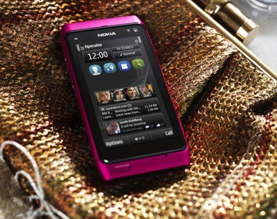 Nokia n8 pink version comes with symbian anna update 550x435