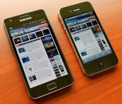 galaxy s 2 and iphone 4