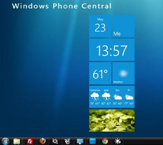 metro weather widget - Metro Weather: widget com relógio e previsão do tempo para o PC