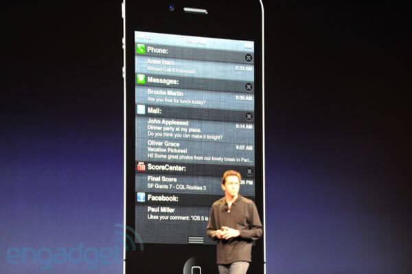 apple wwdc 2011 notificações