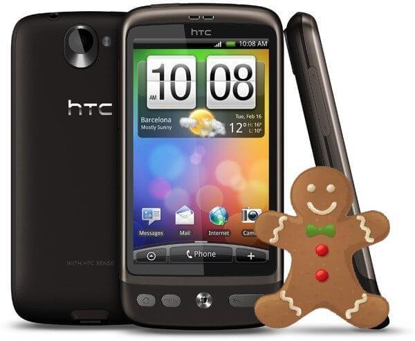 htc desire gingerbread