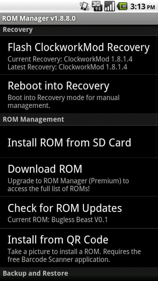 """Dicionário Básico do """"Mod"""" para Android - Recovery CWM / Nandroid"""