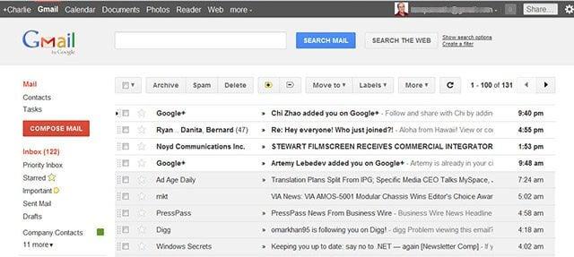 Gmail e Google Agenda de cara nova